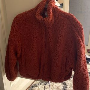 Urban Outfitters fluffy burnt orange jacket